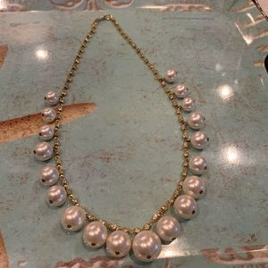 Hobe Faux Pearl & Crystal necklace